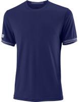 Męski T-Shirt Wilson M Team Solid Crew - blue depths