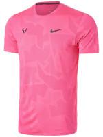 Męski T-Shirt Nike Court Aeroreact Top SS Rafa - digital pink/gridiron