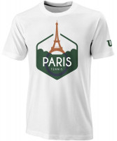 Męski T-Shirt Wilson M Paris Tech Tee - white