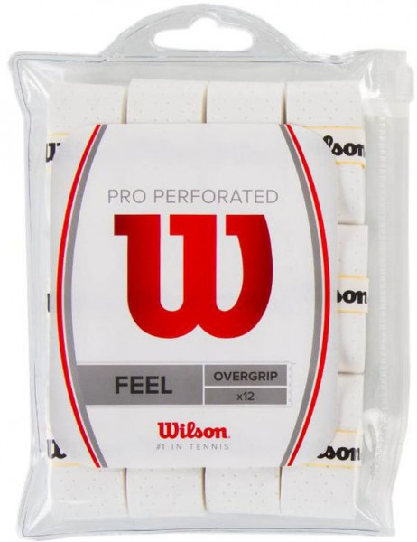 Gripovi Wilson Pro Overgrip Perforated 12P - white