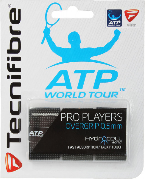 Owijki tenisowe Tecnifibre Pro Player's 3P - black