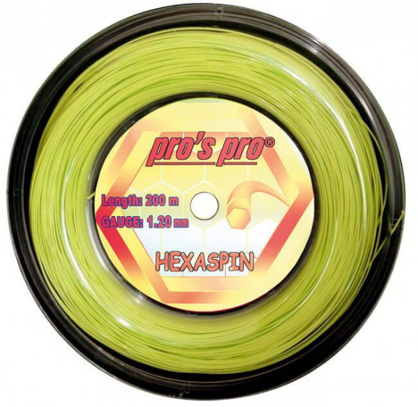 Tennis String Pro's Pro Hexaspin (200 m) - lime