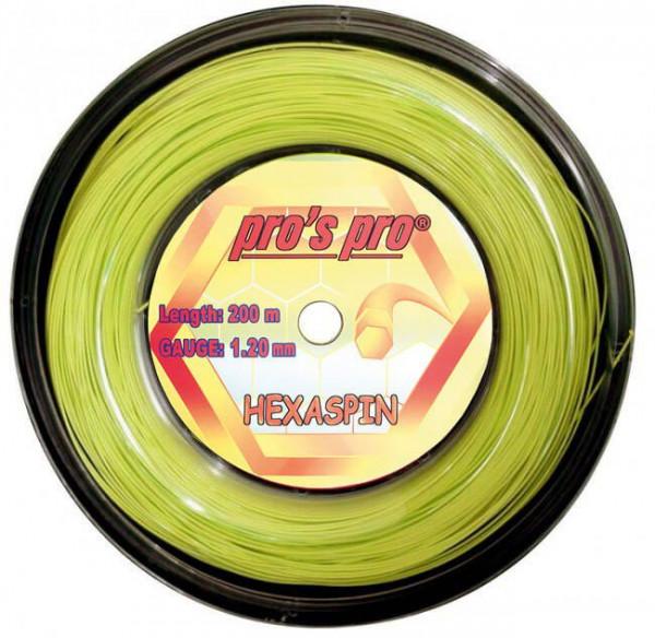 Teniska žica Pro's Pro Hexaspin (200 m) - lime