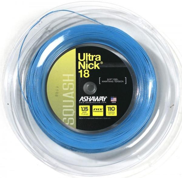 Squash strings Ashaway UltraNick 18 (110 m) - blue