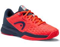 Juniorskie buty tenisowe Head Revolt Pro 3.5 Junior - neon red/dress blue