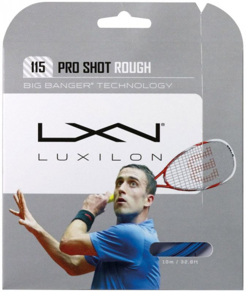 Skvoša stīgas Luxilon Pro Shot Rough 115 (10 m) - blue