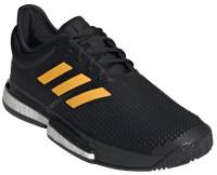 Męskie buty tenisowe Adidas SoleCourt Boost M - core black/flash orange/carbon