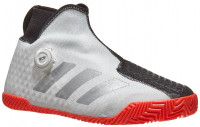 Męskie buty tenisowe Adidas Stycon M BOA - cloud white/silver metallic/solar red