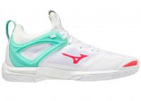 Damskie buty do squasha Mizuno Wave Mirage 3 - white/fierycoral/iceg