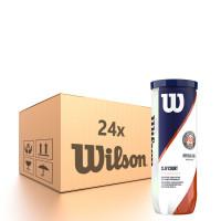 Karton piłek tenisowych Wilson Roland Garros Clay - 24 x 3B