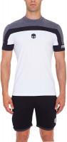 Hydrogen Tech Skull T-Shirt - anthracite melange/white