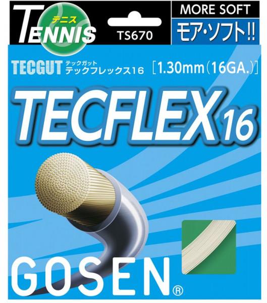 Tennisekeeled Gosen TECGUT Tecflex (12.2 m) - white