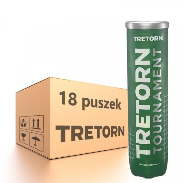 Karton piłek tenisowych Tretorn Tournament - 18 x 4 szt.