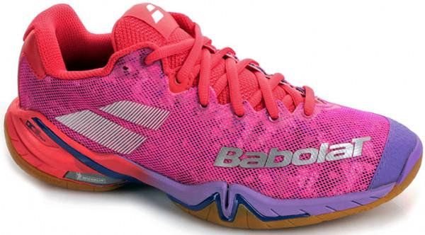 Buty do squasha Babolat Shadow Tour Women - red/pink/blue