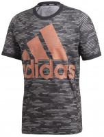 Teniso marškinėliai vyrams Adidas Primeblue Logo Tee M - black/true orange