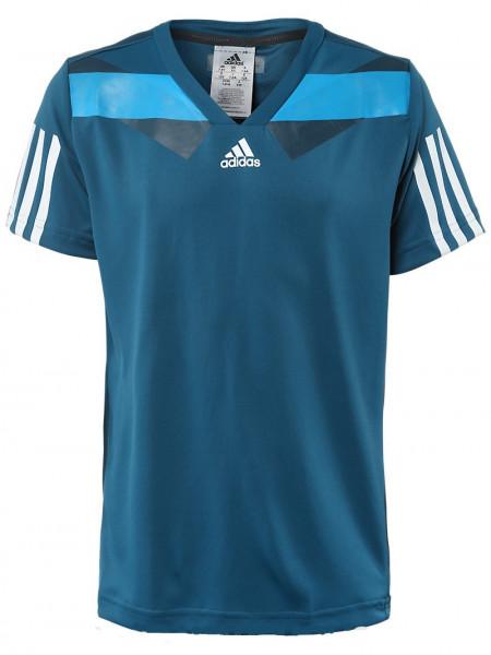 Marškinėliai berniukams Adidas Barricade Semi Fit - tribe blue