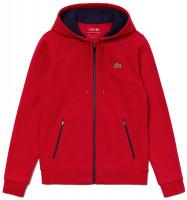Męska bluza tenisowa Lacoste Men's SPORT Novak Djokovic Croc Logo Sweatshirt - red/navy blue
