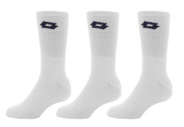 Skarpety tenisowe Lotto Sock Logo Tennis (Crew) - 3 pary/white