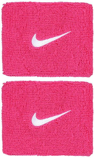 Znojnik za ruku Nike Swoosh Wristbands - vivid pink/white