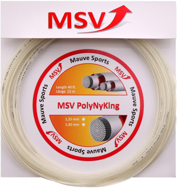 Teniso stygos MSV PolyNyKing (12 m) - natural