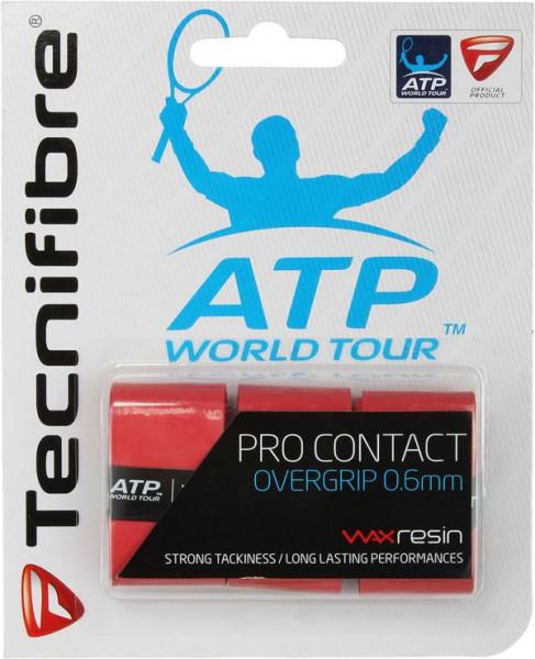 Tenisa overgripu Tecnifibre Pro Contact 3P - red