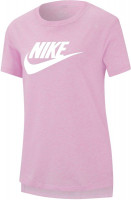 Koszulka dziewczęca Nike G NSW Tee DPTL Basic Futura - light arctic pink/white