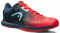 Męskie buty do squasha Head Sprint Pro 3.0 Indoor - neon red/midnight navy