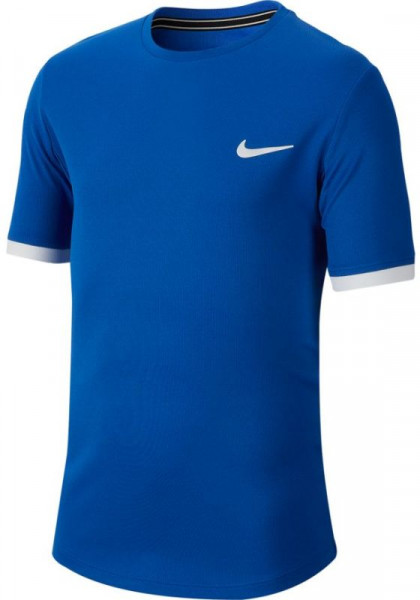 Koszulka chłopięca Nike Court Dry Top SS Boys - game royal/white/white