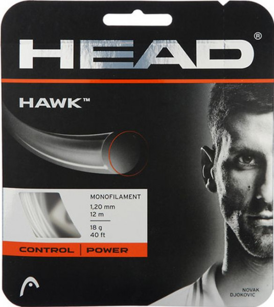 Teniska žica Head HAWK 1.30 mm (12 m) - white (Preporučujemo)
