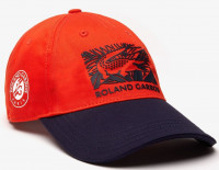 Czapka tenisowa Lacoste Roland Garros Edition Printed Cap - orange/navy