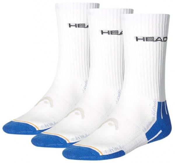 Teniso kojinės Head Performance Crew - 3 pary/blue combo