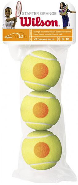 Juniorskie piłki tenisowe Wilson Starter Orange - 3 szt.