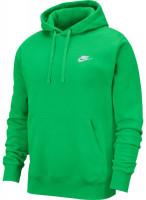 Męska bluza tenisowa Nike Sportswear Club Hoodie PO BB - light green spark/light green spark/white