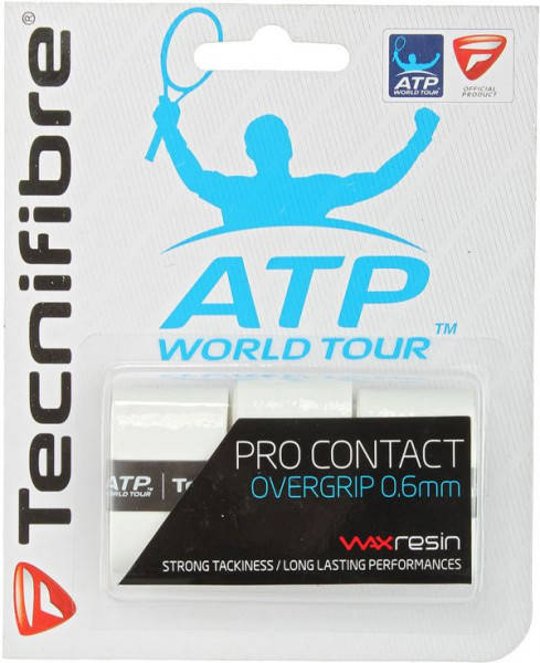 Overgrip Tecnifibre Pro Contact (3 szt.) - white