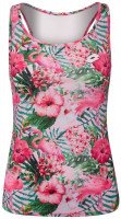 Damski top tenisowy Lotto Flamiflower Tank + Bra - print