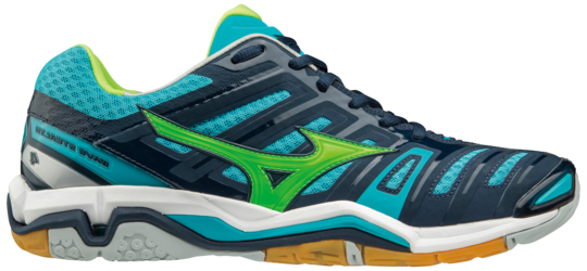 Muške cipele za squash Mizuno Wave Stealth 4 - dress blues/green gecko/peacock blue