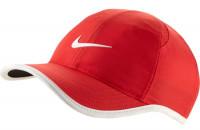 Czapka tenisowa Nike Dry Youth Featherlight Cap - track red