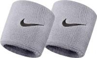 Nike Swoosh Wristbands - matte silver/black