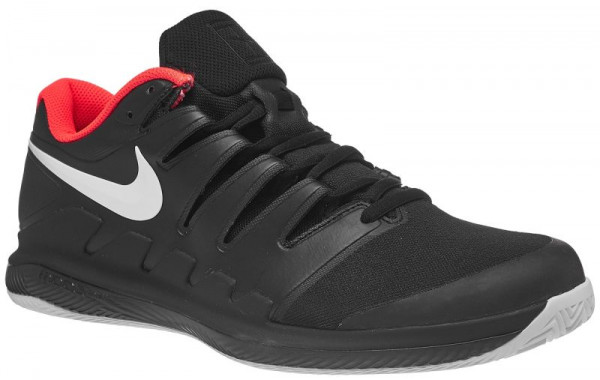 Męskie buty tenisowe Nike Air Zoom Vapor X Clay - black/white/bright crimson