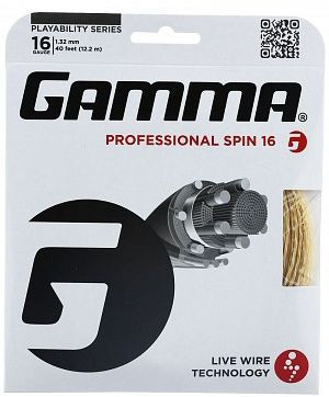 Tennisekeeled Gamma Live Wire Professional Spin (12,2 m)