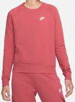 Teniso bluzonai moterims Nike Essential Crew Fleece - arched pink/white