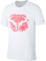 Koszulka chłopięca Nike Court Rafa DB Tee - white/digital pink