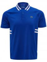 Męskie polo tenisowe Lacoste Men's SPORT Novak Djokovic Breathable Ultra-Dry Polo - blue/white
