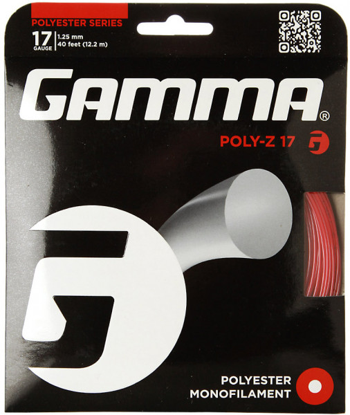 Teniska žica Gamma Poly-Z (12.2 m) - red