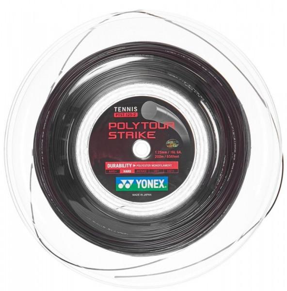 Tenisa stīgas Yonex Poly Tour Strike (200 m) - black