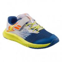 Juniorskie buty tenisowe Babolat Pulsion All Court Kid - dark blue/sulphur spring