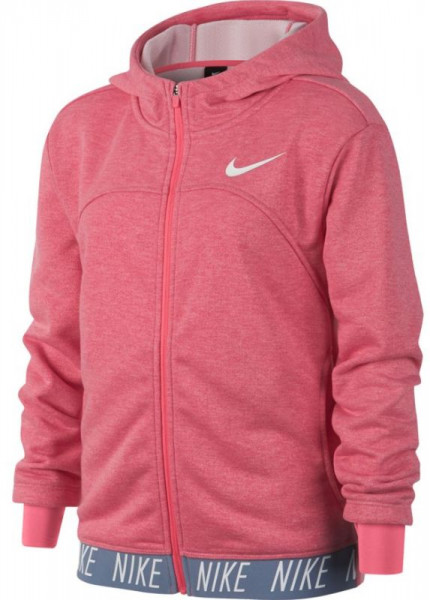 Nike Girls Dry Hoodie FZ Studio - pink nebula/htr/pink nebula/white