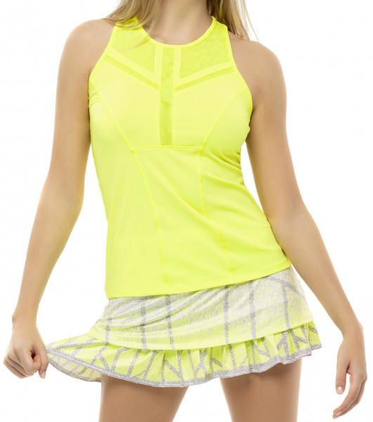 Ženska majica bez rukava Lucky in Love Nice To Pleat You Del 1 Center Line Tank W - neon yellow