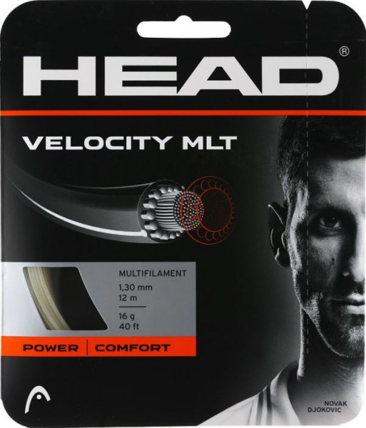 Naciąg tenisowy Head Velocity MLT 1,30 mm (12 m) - natural (Polecamy)