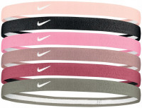 Nike Swoosh Sport Headbands 6PK 2.0 - barely rose/black/ magic flamingo